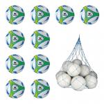 10x Erima Hybrid Lite 290 Fußball 10er Ballpaket Gr. 5 290g inkl. Ballnetz weiß | gelb | 5 Light