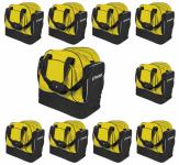 Stanno - 10x  Portland Pro Sporttasche 10er Taschenpaket gelb-schwarz