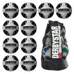 10x Derbystar Atmos TT Fußball 10er Ballpaket + Ballsack weiß-schwarz   5