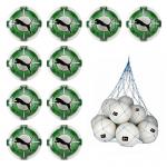10x Puma evoPOWER Vigor 2.3 Match Fussball 10er Ballpaket inkl. Ballnetz Puma White-Green Gecko-Puma Black   5