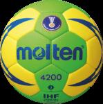 Molten H3X4200-GY Handball Spielball grün-gelb-blau | 3
