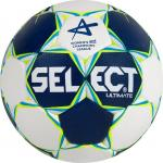 Select Ultimate CL Women Handball Spielball blau-weiß-neongelb | 2