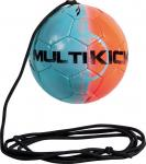 Derbystar Multikick Mini Fußball Spezialball blau-orange | 47 cm