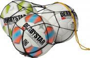 Derbystar Ballnetz Polyester schwarz | Für 3 Bälle