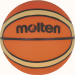 Molten B100VG Basketball Mini Basketbällchen orange-creme | Ø 100 mm