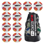 10x Derbystar Stratos Pro S-Light 10er Ballpaket + Ballsack