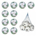 10x Stanno Santos Fußball 10er Ballpaket inkl. Ballnetz weiß-grün | 5