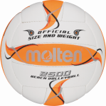 Molten BV2500-FOR Beachvolleyball Beach Trainingsball weiß-orange-silber | 5