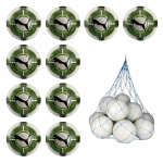 10x Puma evoPower 4.3 Club Fussball IMS 10er Ballpaket inkl. Ballnetz Puma White-Green Gecko-Puma Black   5