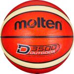 Molten B6D3500 Basketball Outdoor Trainingsball orange-creme (shiny optic) | 6