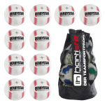 10x Derbystar X-Zero S-Light Fußball 10er Ballpaket + Ballsack