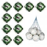 10x Puma evoPower Vigor 3.3 Tournament Fussball 10er Ballpaket inkl. Ballnetz Puma White-Green Gecko-Puma Black | 5