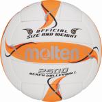 Molten BV2500-FOR Beachvolleyball Beach Trainingsball weiß-orange-silber | 5