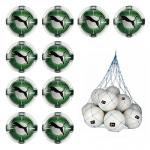 10x Puma evoPOWER Vigor 1.3 Statement Fußball Spielball 10er Ballpaket inkl. Ballnetz Puma White-Green Gecko-Puma Black | 5