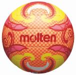 Molten V5B1502-O Beachvolleyball Freizeit-Trainingsball orange-gelb-pink,   5