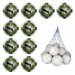 10x Puma evoPower 4.3 Club Fussball IMS 10er Ballpaket inkl. Ballnetz Puma White-Green Gecko-Puma Black | 5