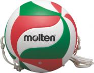 Molten V5M9000-T Volleyball Trainingsball 2 Halteseile weiß-grün-rot   5