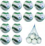 12x Joma Super Hybrid Fußball 12er Ballpaket inkl. Ballnetz GRÜN/WEISS | 5