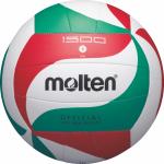 Molten V5M1500 Volleyball Trainingsball weiß-grün-rot   5