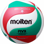 Molten V5M5000 Volleyball Spielball weiß-grün-rot | 5