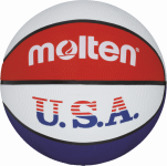 Molten BC6R-USA Basketball Trainingsball weiß-blau-rot | 6