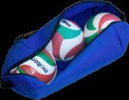 Molten EK0043-B Balltasche für 3 Volleybälle blau | 680 x 230 x 230 mm