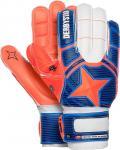 Derbystar Protect Basic AR Advance Torwarthandschuhe blau-orange-weiß | 7