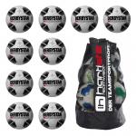 10x Derbystar X-Quintus TT Fußball 10er Ballpaket + Ballsack weiß-schwarz | 5