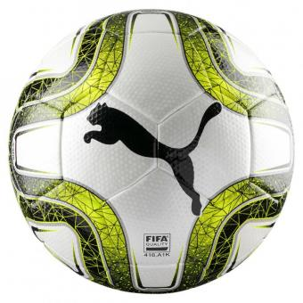 PUMA FINAL 3 Tournament FIFA Qualiy Fußball Wettspielball Puma White-Lemon Tonic-Puma Black | 5