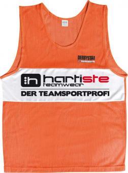 Derbystar 10er Set Trainingsleibchen Markierungshemden Hartiste orange-weiß | 116-140