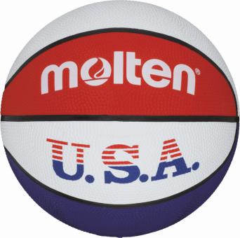 Molten BC7R-USA Basketball Trainingsball weiß-blau-rot   7