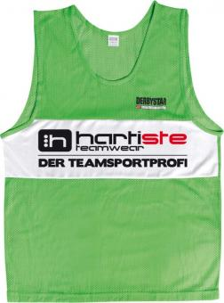 Derbystar 10er Set Trainingsleibchen Markierungshemden Hartiste grün-weiß | 152-S