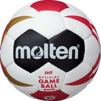 MOLTEN H0X1300-M9Z Handball Knautschi Methodikball Replika Handball WM 2019 weiß/schwarz/rot/gold | 0