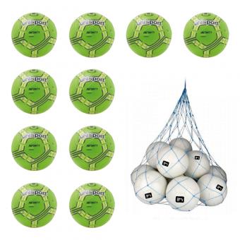 10x Uhlsport Infinity Starter Fußball 10er Ballpaket inkl. Ballnetz