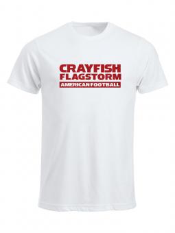 Cottbus Crayfish Fanshirt Flagstorm Herren T-Shirt weiß | XS