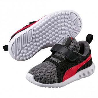 Puma Carson 2V PS Sneaker Kinder Quit Shade-Flame Scarlet | 28