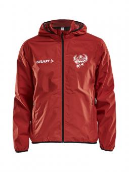 CRAFT Cottbus Crayfish Jacket Rain JR Junior Regenjacke bright red-black | 122/128