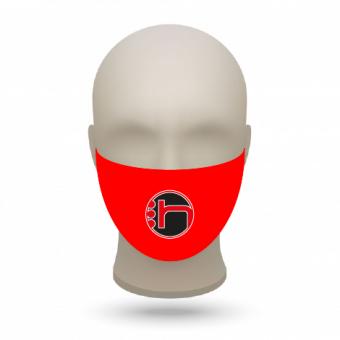 Teampaket Gesichtsmaske mit Vereinslogo 20 Stück rot | 20 Stk