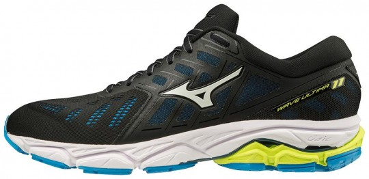 Mizuno Wave Ultima 11 Herren Laufschuh BLACK/WHITE/DIVA BLUE | 42,5
