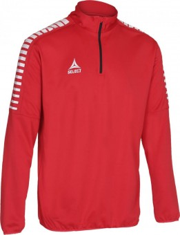 Select Argentina Trainingstop Pullover Zip Sweater rot-weiß | 6 (116)