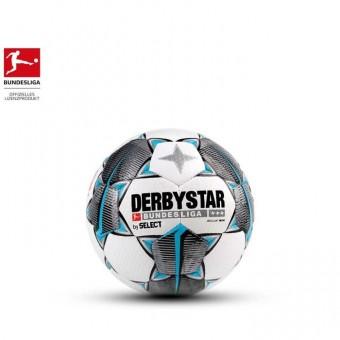 Derbystar BUNDESLIGA BRILLANT MINI Fußball Weiß-Schwarz-Petrol | Umfang:47cm
