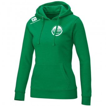 JAKO SV Grün-Weiß Dissen Kapuzensweat Team Damen Hoody sportgrün | 40 (L)
