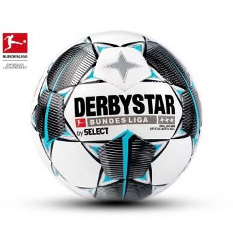 Derbystar BUNDESLIGA BRILLANT APS Fußball Wettspielball Weiss-Schwarz-Petrol | 5