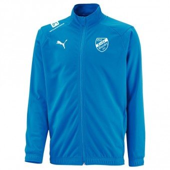 PUMA SV Eiche Branitz LIGA Sideline Poly Jacket Core Präsentationsjacke Electric Blue Lemonade-Puma White | S
