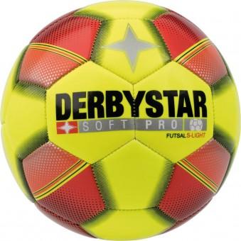 Derbystar Soft Pro S-Light Futsal Fußball Futsalball gelb-rot-schwarz | 3
