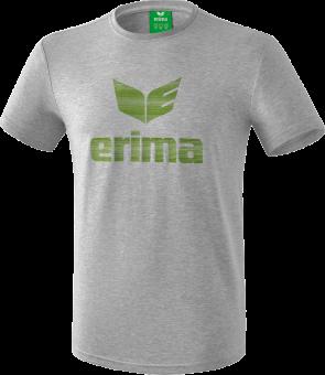 erima LHV Hoyerswerda Essential T-Shirt hellgrau melange-twist of lime | 128