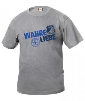VfB 1921 Krieschow Kinder T-Shirt Wahre Liebe grau meliert | 150/160