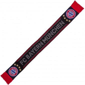 FC Bayern München Schal Black schwarz/grau/rot   17 x 150 cm