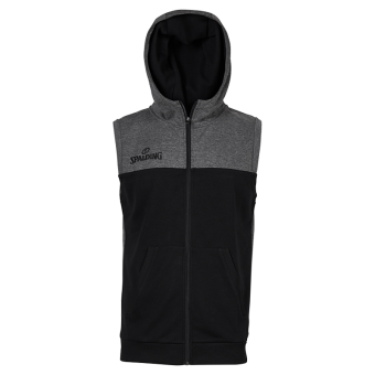 SPALDING STREET HOODED JACKET SLEEVELESS KAPUZENSWEATER TANK-TOP anthrazit melange-schwarz | S
