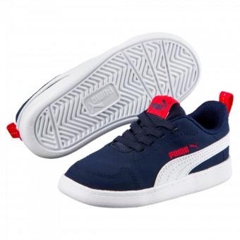 Puma Courtflex Inf Sneaker Kinder Peacoat-Puma White | 20